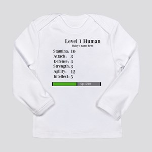 Level 1 Human [Personalize] Long Sleeve T-Shirt
